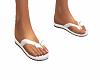 Flip Flops White Bow