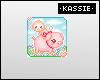 """K Baby Monkey Badge"