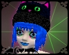 Neon Blue/Black Cat Hat