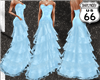SD Baby Blue Ruffle Gown