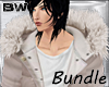 Beige Fur Coat Bundle