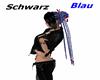 New Hair Style-Black/Blu