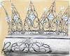 Filigree  Crown Silver