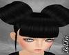 Shiney Black Buns