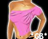 Pink Shoulder Cut Top