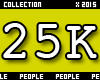 25K Support Sticker