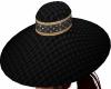 Black Weave Sun Hat