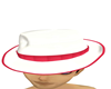 White/Red Gangster Hat