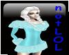 winter dress teal fur