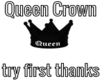 Queen Crown B/W