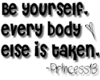 P13- Be yourself.