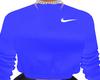 F. Blue Nikey Jumper
