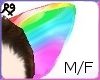 Rainbow Wolf Furry Ears