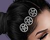Pentagram Hair clips