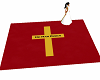 Red and Gold Church Rug