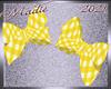 !a Kids Yellow Plaid Bow