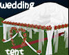 !Wedding tent white red