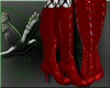 ~D~ Red PVC Boots