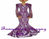 bright purp gown