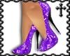 * Purple Sequin Heels