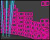 +Neon Cubes+ Mesh