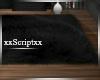 SCR. Black Fur Rug