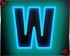 Neon Letter W