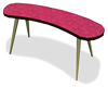 Retro Curved Table