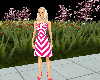 LKJ Pink & White Dress