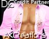 (AK)Pink open shirt