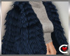 *SC-Fur Coat Navy Layrbl