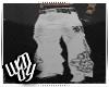 badboy white pvc baggys