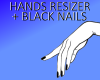 hands resizer black