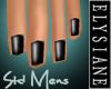 {E} Black Shine Nails M