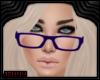 *J Purple Glasses