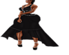 XXL BLACK COCKTAIL DRESS