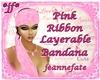 *jf* Pink Ribbon Bandana