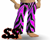 B/hotpink zebra pants