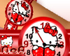 *NoA*H.Kitty Watch RED