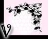 -V- B&W flower corner R