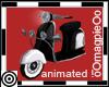 Mod Blk & Wht Scooter