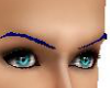 dark blue eyebrows