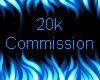 20k Commission Sticker