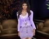 Lilac Denim Skirt