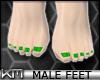 +KM+ Male Feet Green