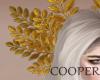!A golden leaf tiara