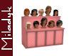 MLK Wig Display Pink