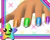 *Rd MultiRainbow Nails