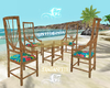 G7 Bamboo Chair w Table