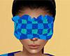 Teal Sleep Mask Plaid F